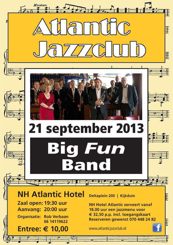 21 sep 2013 - Atlantic Jazzclub Kijkduin - Big Fun Band